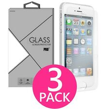 3X Premium HD Slim Clear Tempered Glass Screen Protector for iphone 5/5S/5C