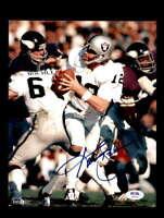 Ken Stabler PSA DNA Coa Signed 8x10 Raiders Autograph Photo