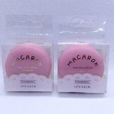 Lot Of 2 It's Skin Macaron Mini Macaroon Lip Balm - Pink Strawberry