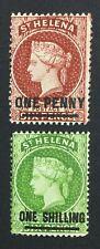 MOMEN: ST HELENA SG #27,30 P14 CROWN CC MINT OG H £141 LOT #5129