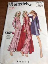 Vtg 70s Butterick 5970 Jumpsuit & coat Pant dress Pattern Short/Long 34B sz 12