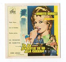 1960 Spanish Film Star Card French Sex Symbol Brigitte Bardot