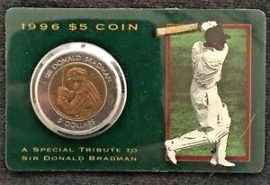 $5 Australian tribute coin1996 Sir Donald Bradman