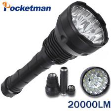 200000LM  LED Flashlight 15*T6 LED 5 Modes Tactical Torch Lighting Lamp Lantern