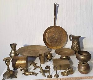 VINTAGE COLLECTION OF BRASS ITEMS