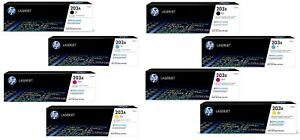 GENUINE HP203A / HP203X TONER CARTRIDGES, CHOICE OF 8 IN LOT - SENT QUICKLY