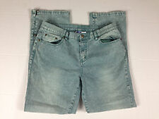 DG2 Jeans 10p Petite Diane Gilman Stretch straight leg Medium Women's Sea Green