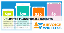 Airvoice GSM Monthly Plan $50 Refill (RTR Direct Load to Phone) 1-24 hours