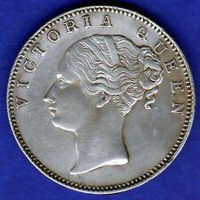 BRITISH INDIA-1840-CONTINUES LEGEND-ONE RUPEE-VICTORIA- NEAR UNC SILVER COIN-1
