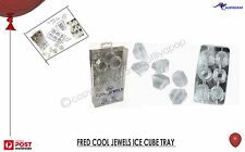 FRED COOL JEWELS ICE CUBE TRAY BLING COCKTAILS BNIB FUN PARTY 100% Food Grade