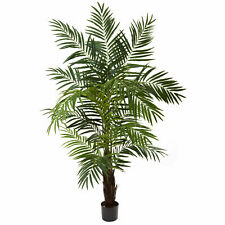 6' Areca Palm Tree Artificial Silk Plant Nearly Natural Home Office Decoration