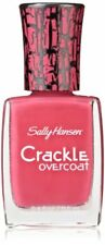 Sally Hansen Crackle Overcoat Nail Polish, Fuchsia Shock, 0.4 Fluid Ounce