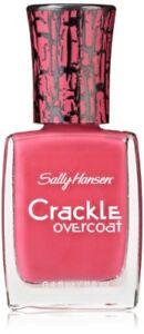 Sally Hansen Crackle Overcoat Nail Polish, Fuchsia Shock, 0.4 Fluid Ounce