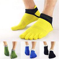 New Mens 5 Finger Five Toe Socks Yoga/Sports Socks Breathable Grid Cotton Socks