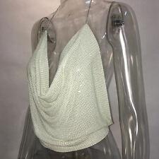 Damen Necktop Crop Top Neckholder Hemd Shirt Rückenfrei Bluse Oberteil Clubwear