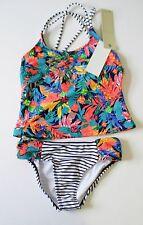 Roxy Girls Hawaiian Tankini Swim Set Astro Aurora Sz 3 - NWT
