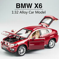 1:32 New BMW X6 Alloy Car Model off-road Sound And Light simulation car toy