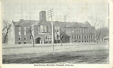 Private Mailing Card; High School Building, Tekamah NE Burt County Unposted
