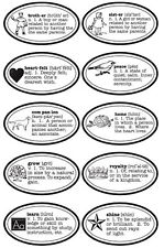 JBS Rub-On Singles-DEFINITIONS BLK scrapbooking Vintage Icons Dictionary