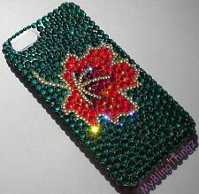 MAPLE LEAF Crystal Rhinestone Back Case for iPhone 4 4S with Swarovski Elements