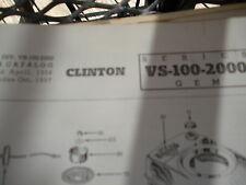 clinton parts list,clinton vs-100-2000 illustrated antique clinton engine 1963pr