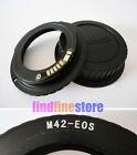 AF Confirm M42 Lens to Canon EOS EF adapter 7D 350D 500D 1000D 1100D rebel + CAP