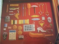 Antique Needlework Tools Magazine Cross Stitch Pattern (B)