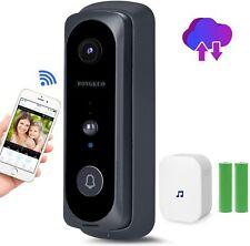 Wireless Video Doorbell Camera 720P HD 166° Security Smart WiFi Door chime