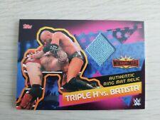 Topps WWE Slam Attax Reloaded M7 TRIPLE H vs BATISTA Ring Mat Relic