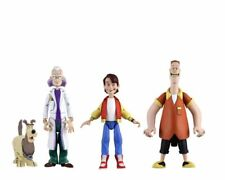 NECA TOONY CLASSICS BACK TO THE FUTURE SET OF 3 MARTY, DOC, BIFF ACTION FIGURES