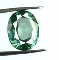 Green Sapphire Gemstone 9.40  Ct Natural Oval VS Clarity AGSL Certified D790