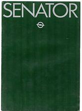 Opel Senator 1980-81 UK Market Sales Brochure 2.8 S 3.0 CD