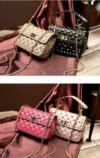 Women Bag Genuine Leather Studded Spike Purse Quilted Chain Lambskin reivet