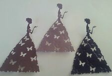 10 mix purple butterfly dress Ladies  Die Cut Toppers. Card Making. Scrap Books