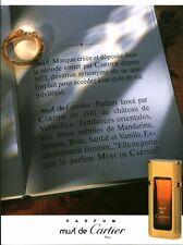 Publicité ancienne parfum Must de Cartier non parfumé