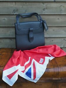 1977 -  British Airways - Female Cabin Crew - Leather Handbag & Satin Scarf - BA