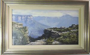 Robyn Collier large oil painting 40x75cm