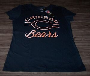 WOMEN'S TEEN CHICAGO BEARS NFL FOOTBALL T-Shirt MEDIUM NEW w/ TAG