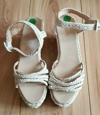 PARE GABIA cordage blanc effet Compensé Sandale Tailles UK 6.5 EU 40 bnnb