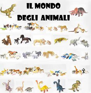 Animali e Dinosauri - Draghi Savana Bosco Mare Fattoria Giocattoli in PVC Gomma