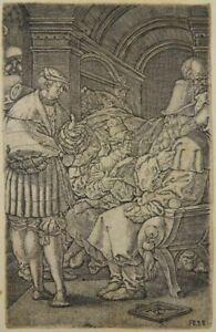 HEINRICH ALDEGREVER ALTMEISTER KUPFERSTICH 1532 JOSEPH JAKOB TRAUM JACOB DREAM