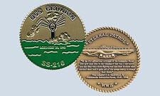 USS Grunion SS 216 Submarine Challenge Coin
