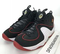 Nike Air Max Penny 2 Miami Heat Mens 9.5 Basketball Shoes Black 333886-002 New