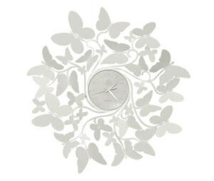 Orologio da parete Moderno in Ferro Vortice Butterfly Farfalle Arti e Mestieri