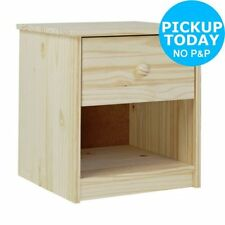 Pine 45cm-50cm Bedside Tables & Cabinets with 1 Drawer