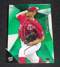 2015 Finest STEPHEN STRASBURG #25 Green Refractor/99 Washington NATIONALS Aztecs