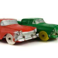 AUBURN HTF 1957 Ford Ranchero Pickup Toy Truck Rubber Vintage Vinyl Red Green