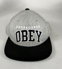 OBEY propaganda posse grey black they embroidered hat live movie snap back
