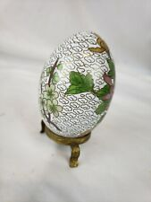 Nice vintage chinese cloisonne egg with stand