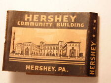 Vintage advertising match book: Hershey, PA and Community Building, Theater, etc